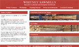 Whitney Sawmills web design