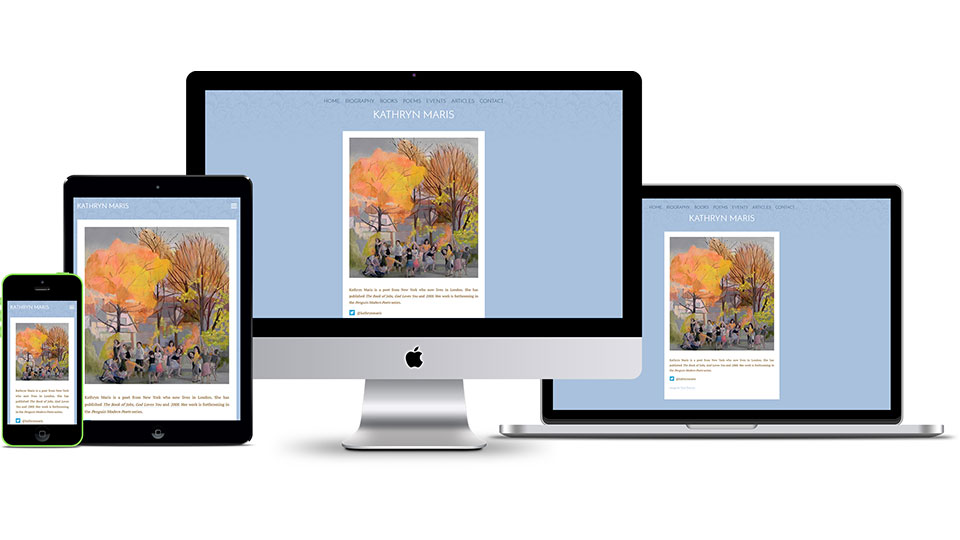 Responsive web design design for poet