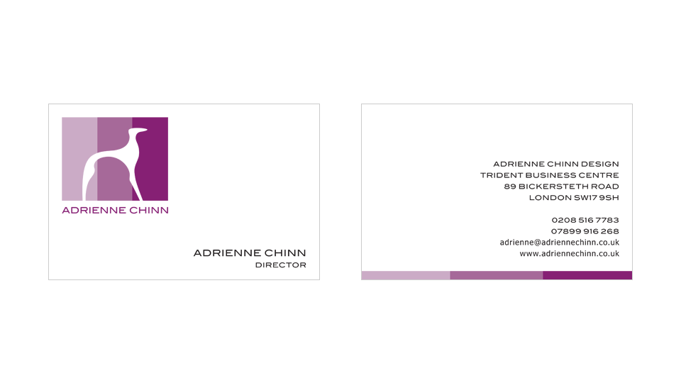 Logo redesign, identity design, business cards and stationery for interior designer