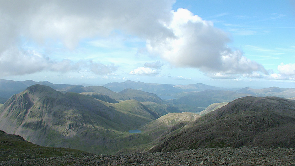 View from Scafell Pike towards Derwent Water