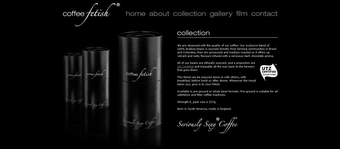 web design for coffee company