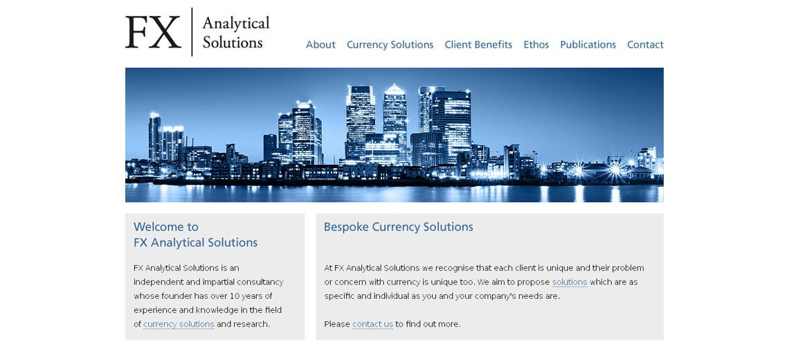 website design for financial consultant