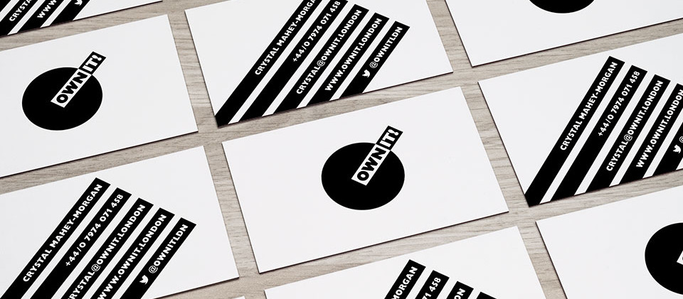business card design for storytelling lifestyle brand