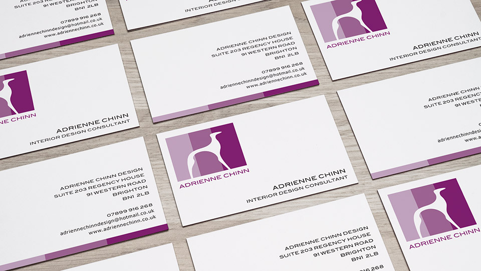 business card and stationery design for interior designer