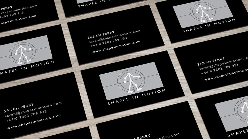 Brand identity design and business card design for acting and movement coach