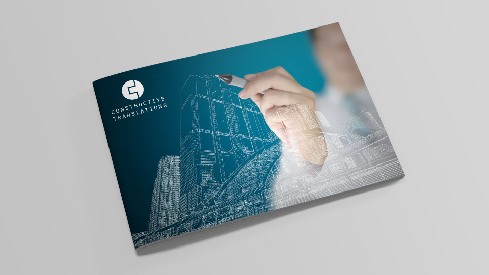 Brand identity design and brochure design for engineering translation company