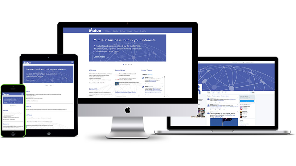 Responsive website design and social media design for consultants