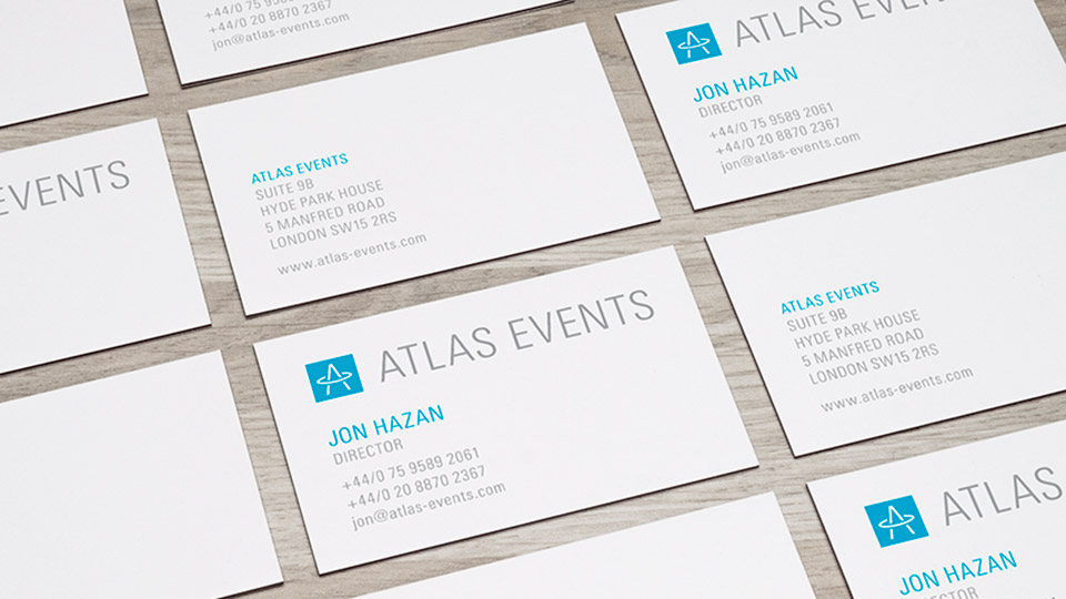 Brand identity design and business card design for event planner