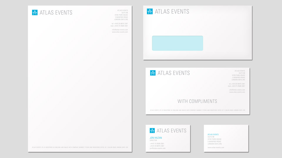 Stationery design for event planner