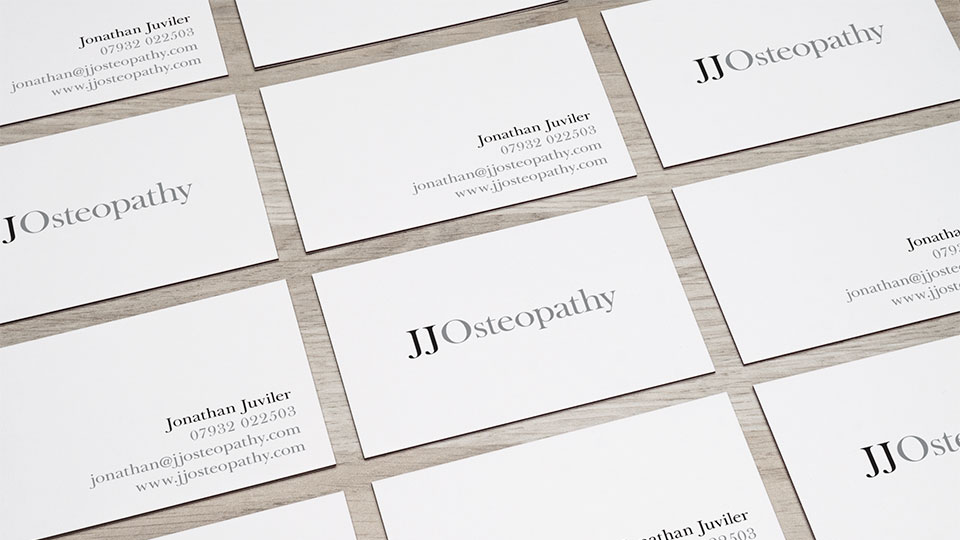 Brand identity design and business card design for osteopath