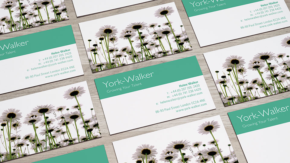 Brand identity design and business card design for recruitment consultant