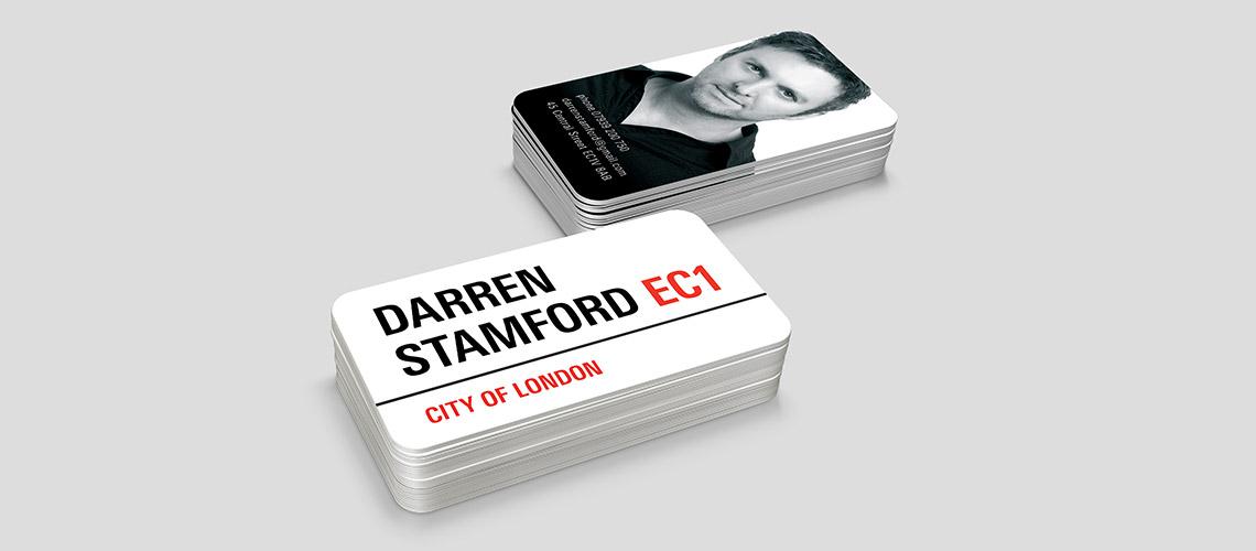 business card design for actor