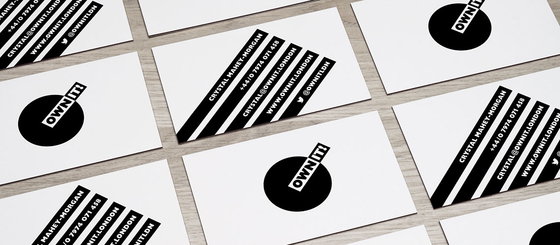 brand identity design and business card design for creative consultancy