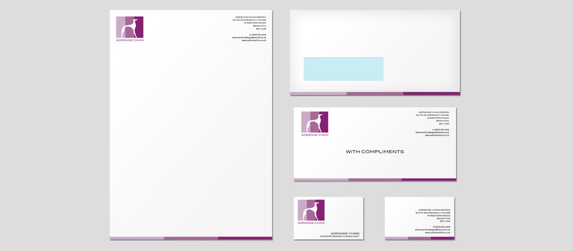 business cards and stationery design for interior designer