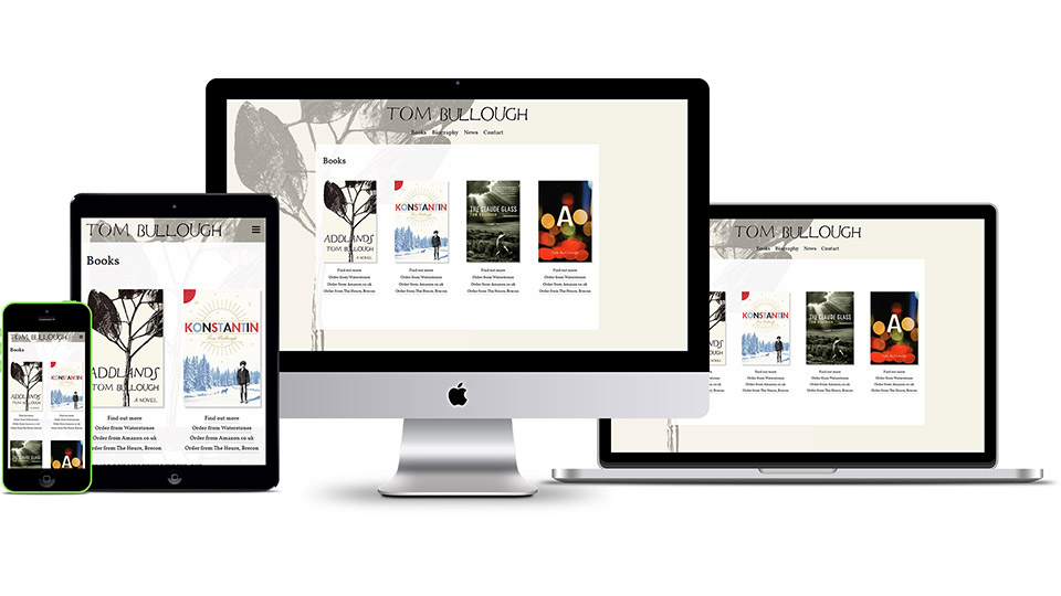 Responsive web design design for author