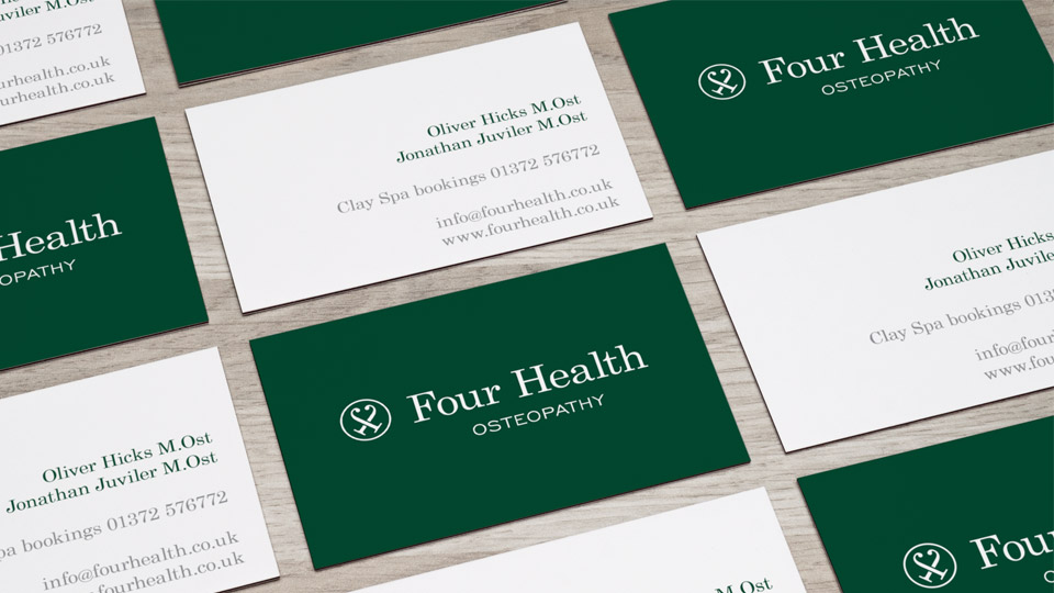 Brand identity design and business card design for osteopathy clinic