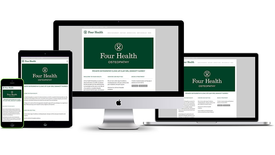 Brand identity design and responsive website design for osteopathy clinic