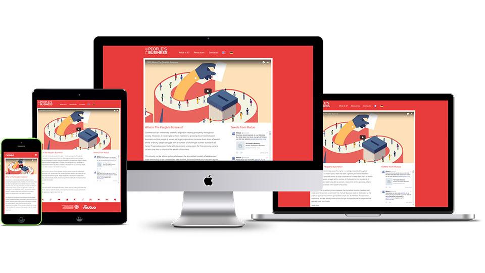 Responsive website design for political campaign