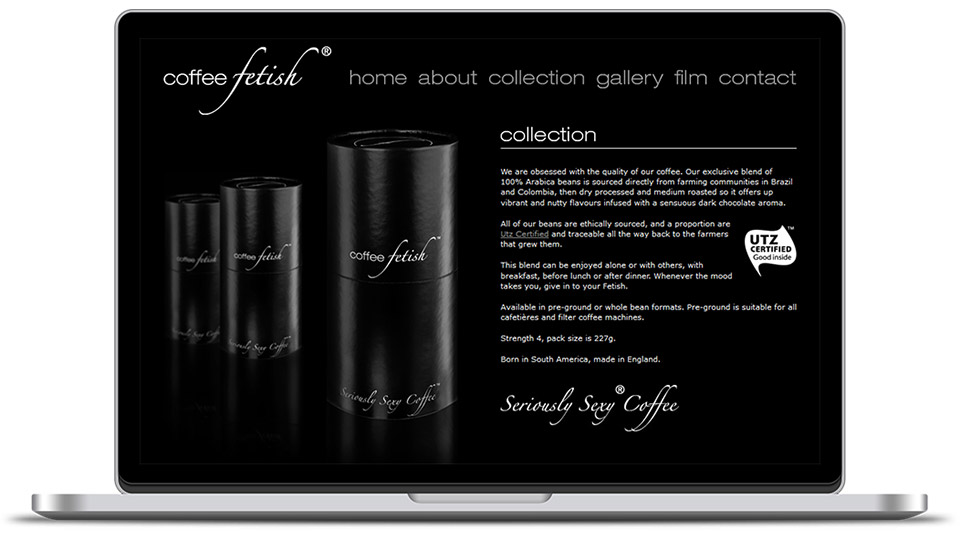 Web design for coffee company