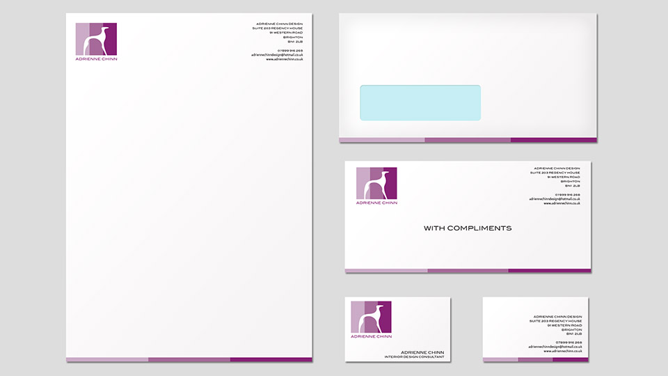 business card and stationery design for interior designer