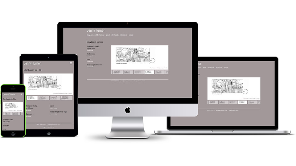 Web design for storyboard artist