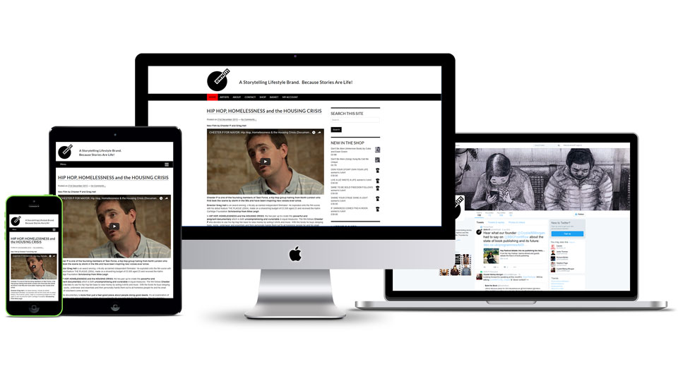 Responsive web design and social media design for lifestyle brand