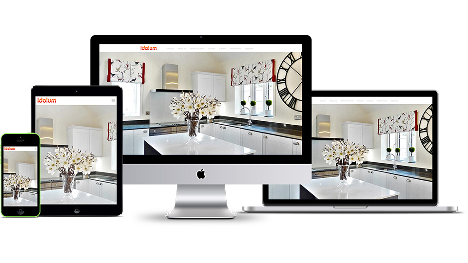 Responsive website design for interior designer